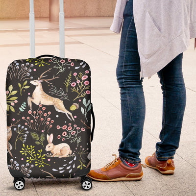 Deer Floral Jungle Luggage Cover Protector