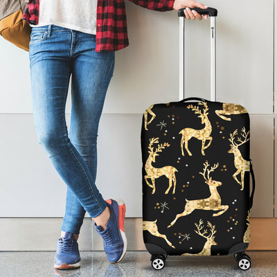 Deer Gold Pattern Luggage Cover Protector