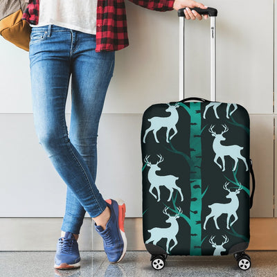 Deer Jungle Print Pattern Luggage Cover Protector