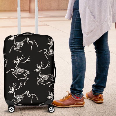 Deer Skeleton Print Pattern Luggage Cover Protector