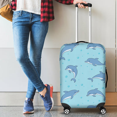 Dolphin Baby Cute Print Pattern Luggage Cover Protector