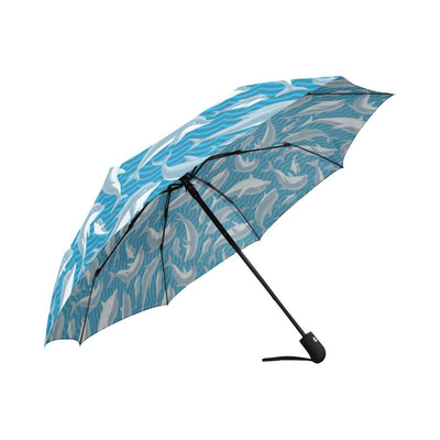 Dolphin Cute Print Pattern Automatic Foldable Umbrella