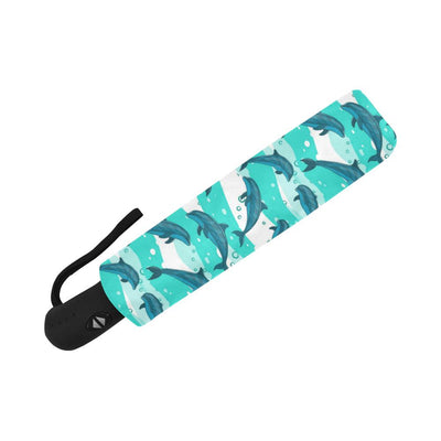 Dolphin Design Print Pattern Automatic Foldable Umbrella