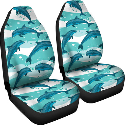 Dolphin Design Print Pattern Universal Fit Car Seat Covers