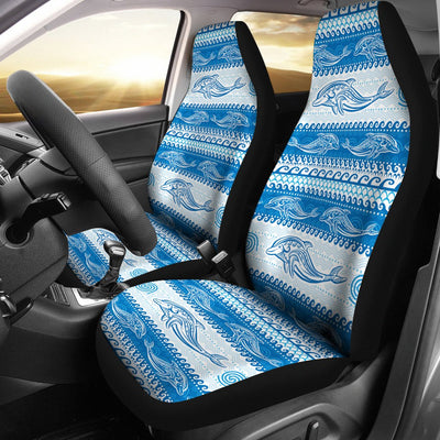 Dolphin Tribal Print Pattern Universal Fit Car Seat Covers