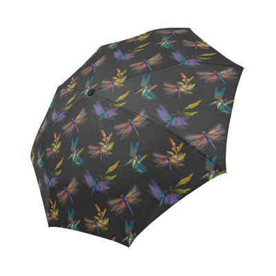Dragonfly Colorful Realistic Print Automatic Foldable Umbrella