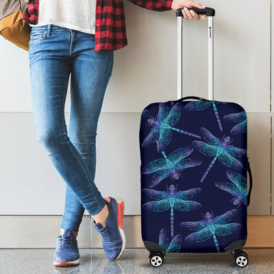 Dragonfly Hand Drawn Style Print Luggage Cover Protector