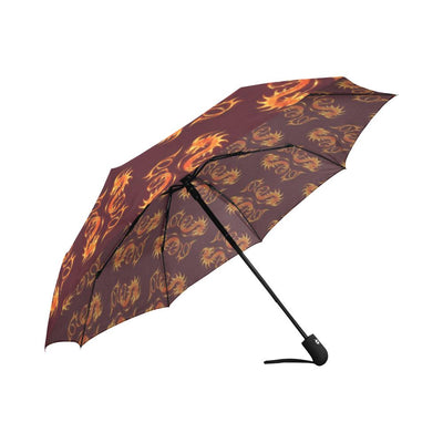Dragons Fire Design Automatic Foldable Umbrella