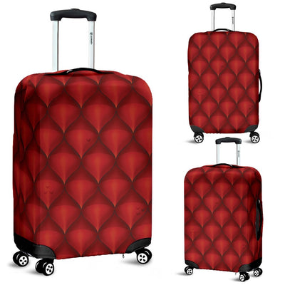 Dragons Red Skin Texture Luggage Cover Protector
