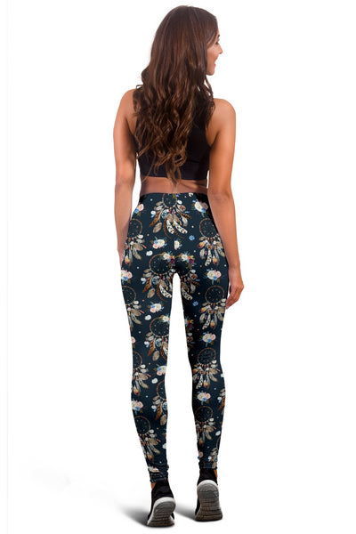 Dream Catcher Boho Floral Style Women Leggings
