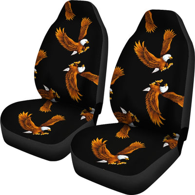 Eagles Print Pattern Universal Fit Car Seat Covers
