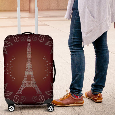 Eiffel Tower Drawing Print Luggage Cover Protector