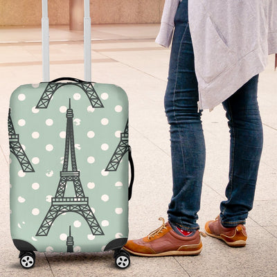 Eiffel Tower Polka Dot Print Luggage Cover Protector