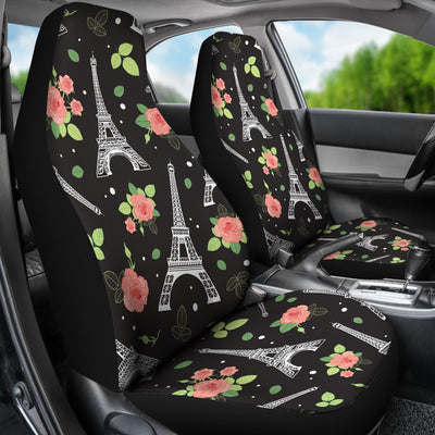 Eiffel Tower Rose Print Universal Fit Car Seat Covers
