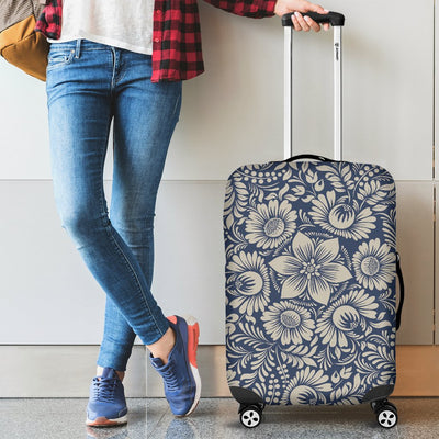 Elegant Floral Print Pattern Luggage Cover Protector