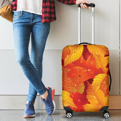 Elm Leave Autum Print Pattern Luggage Cover Protector