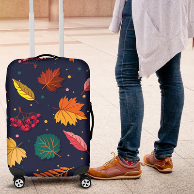 Elm Leave Colorful Print Pattern Luggage Cover Protector