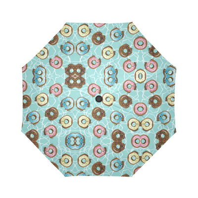 Emoji Donut Print Pattern Automatic Foldable Umbrella