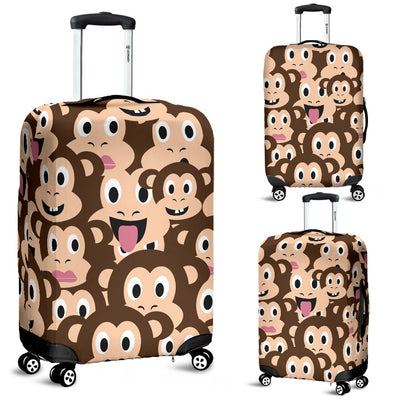 Emoji Monkey Print Pattern Luggage Cover Protector