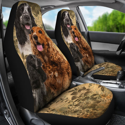 English Cocker Spaniel Design No1 Print Universal Fit Car Seat Covers