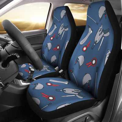 Equestrian Equipment Background Universal Fit Car Seat Covers