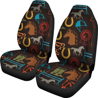 Equestrian Equipment Horse Colorful Universal Fit Car Seat Covers