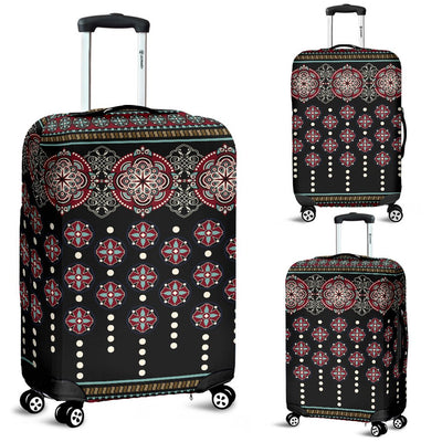 Ethnic Dot Style Print Pattern Luggage Cover Protector