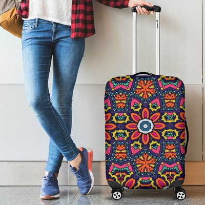 Ethnic Flower Style Print Pattern Luggage Cover Protector