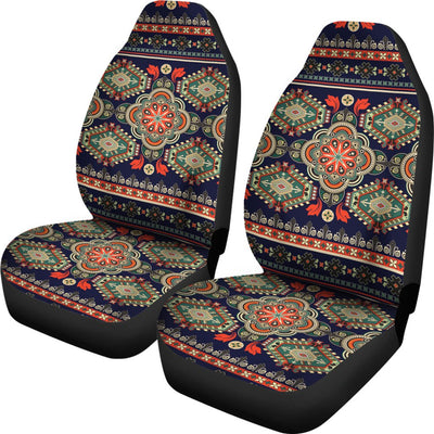 Ethnic Geometric Print Pattern Universal Fit Car Seat Covers