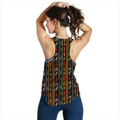 Eye of Horus Egypt Style Pattern Women Racerback Tank Top