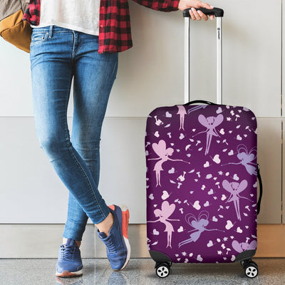 Fairy Pink Print Pattern Luggage Cover Protector