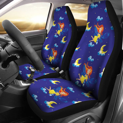 Fairy with Moon Print Pattern Universal Fit Car Seat Covers