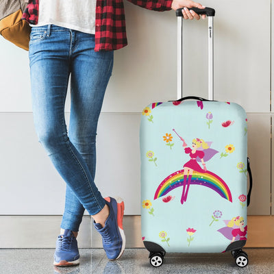 Fairy with Rainbow Print Pattern Luggage Cover Protector