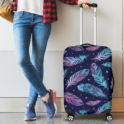Feather Aztec Design Print Luggage Cover Protector