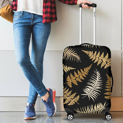 Fern Leave Bright Print Pattern Luggage Cover Protector