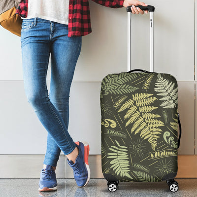 Fern Leave Green Print Pattern Luggage Cover Protector