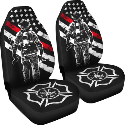 Firefignters Design No1 Print Universal Fit Car Seat Covers