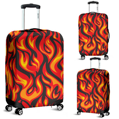 Flame Fire Print Pattern Luggage Cover Protector