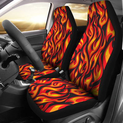 Flame Fire Print Pattern Universal Fit Car Seat Covers