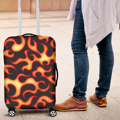 Flame Fire Themed Print Luggage Cover Protector