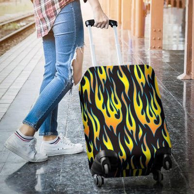 Flame Fire Yellow Pattern Luggage Cover Protector