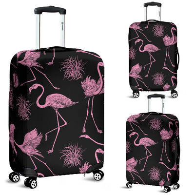 Flamingo Pink Print Pattern Luggage Cover Protector