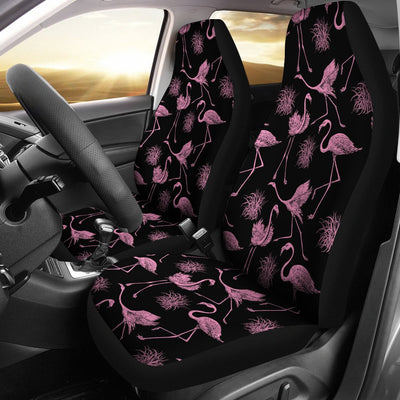 Flamingo Pink Print Pattern Universal Fit Car Seat Covers