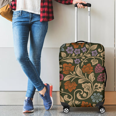 Floral Vintage Print Pattern Luggage Cover Protector