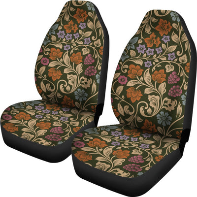 Floral Vintage Print Pattern Universal Fit Car Seat Covers