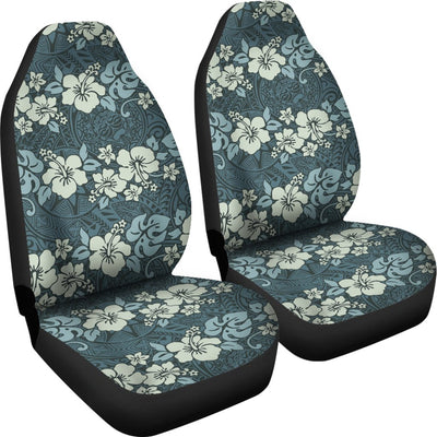 Flower Hawaiian Hibiscus Style Print Pattern Universal Fit Car Seat Covers