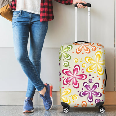 Flower Power Colorful Design Print Luggage Cover Protector