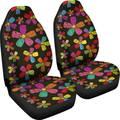 Flower Power Colorful Print Pattern Universal Fit Car Seat Covers