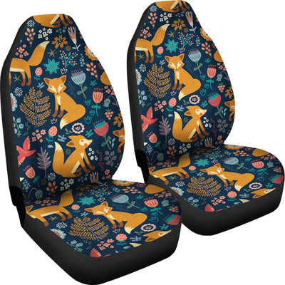 Fox Cute Jungle Print Pattern Universal Fit Car Seat Covers