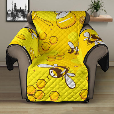 Bee Pattern Print Design BEE01 Recliner Cover Protector